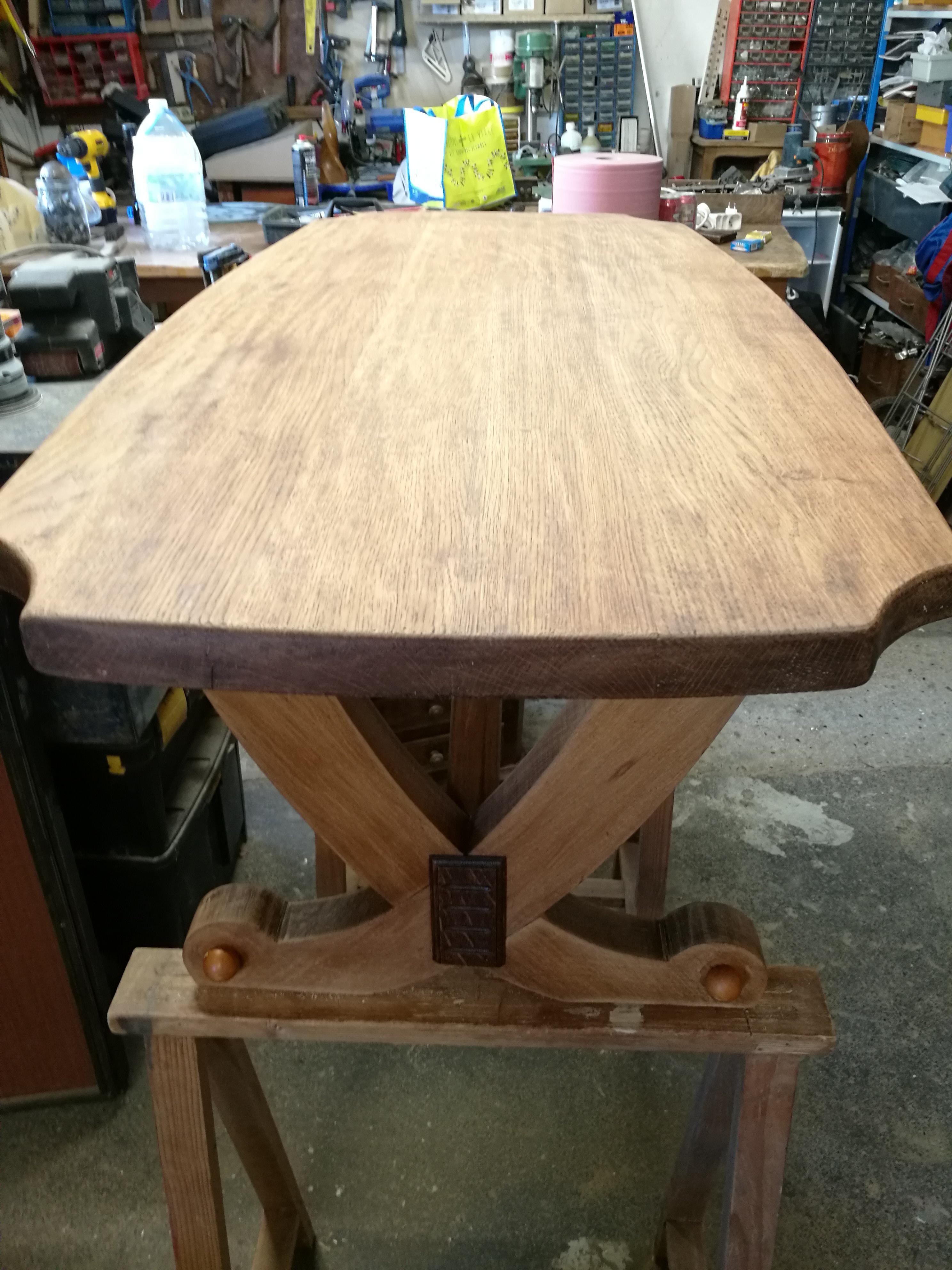 Préparation de la table en atelier